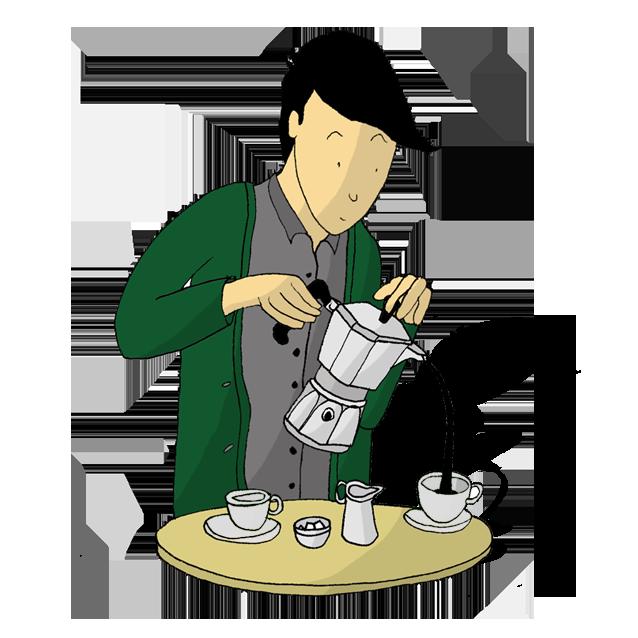 The Coffee Officina Moka stove top