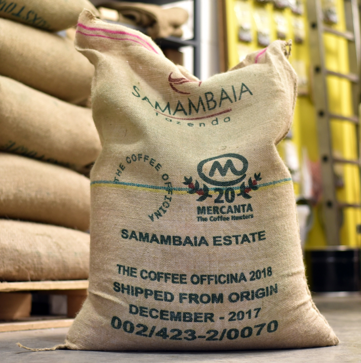 The Coffee Officina coffee sack Samambaia Brazil