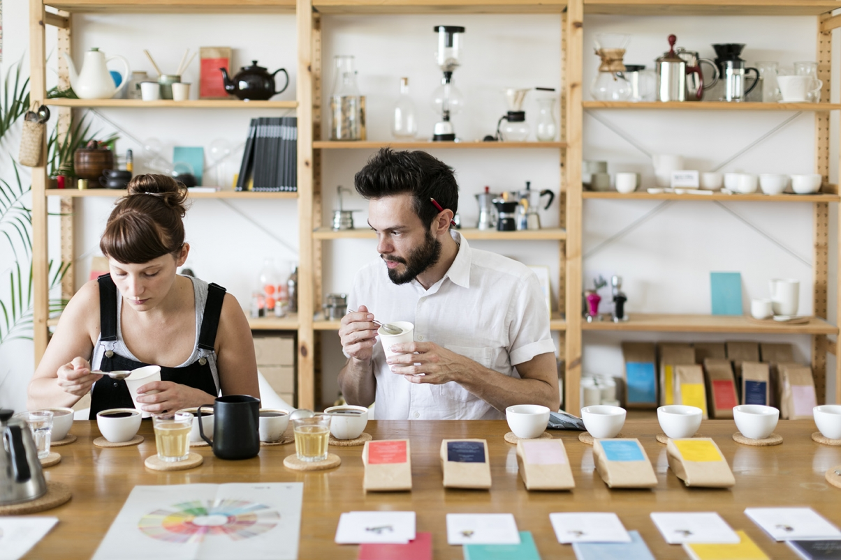 The Coffee Officina Marcella Fiori and Rory Lloyd Cupping Coffee Tasting