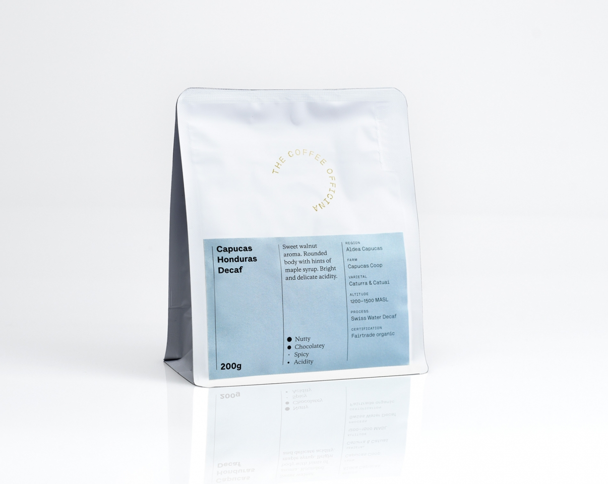 The Coffee Officina Capucas Honduras Swiss Water Decaf Single Origin
