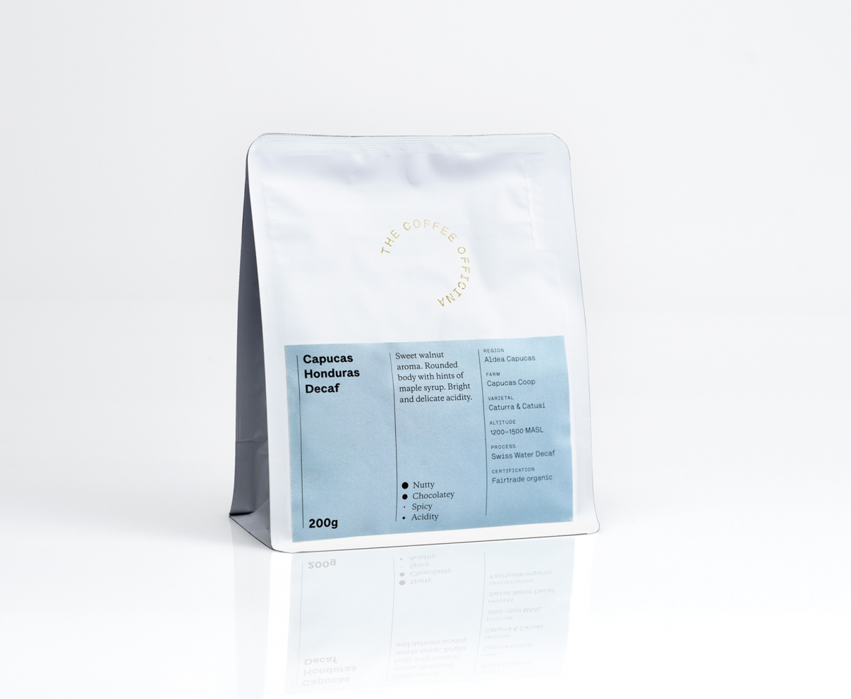 The Coffee Officina Capucas Honduras Swiss Water Decaf Single Origin