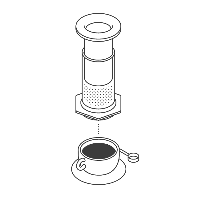 the coffee officina brewing method aeropress