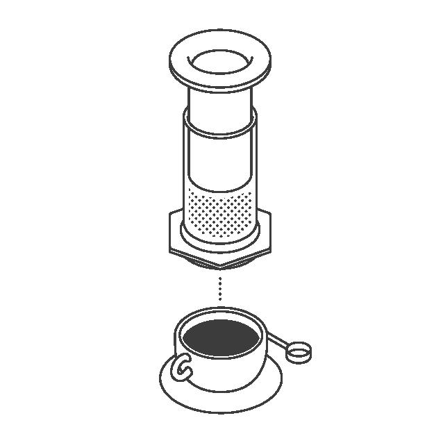 the coffee officina brewing method aeropress