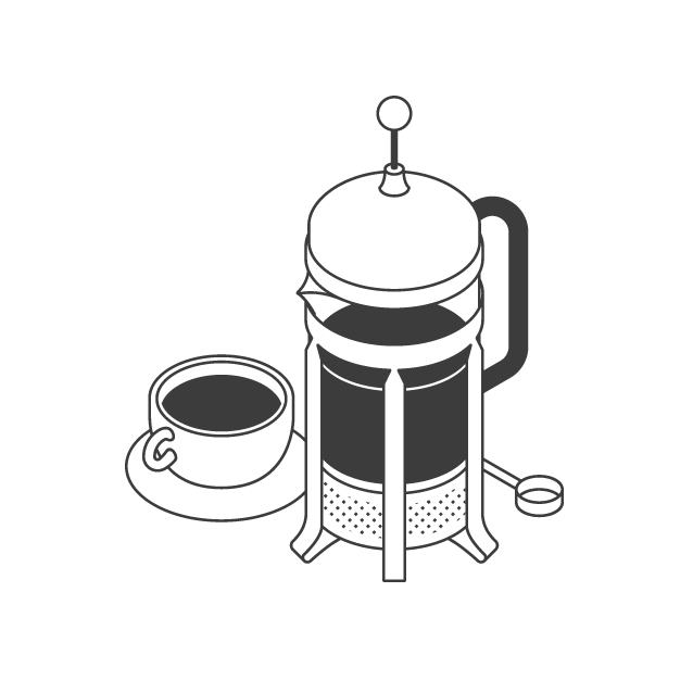 the coffee officina brewing method french press cafetiere