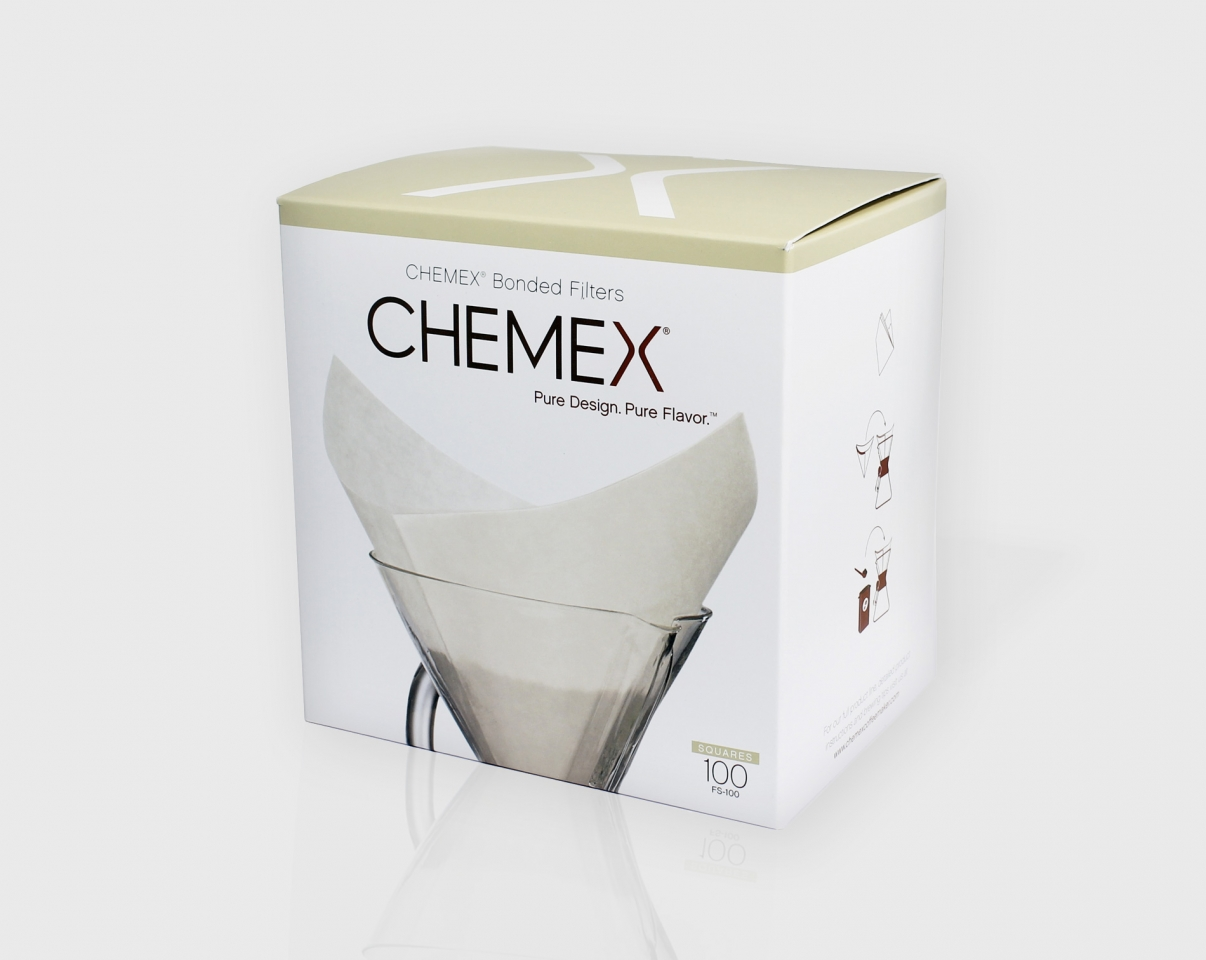 The Coffee Officina Chemex Paper Filters Square 6 cups