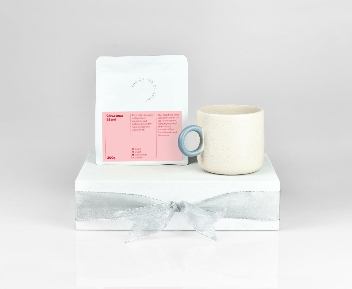 The Coffee Officina Mug and Christmas Blend gift set