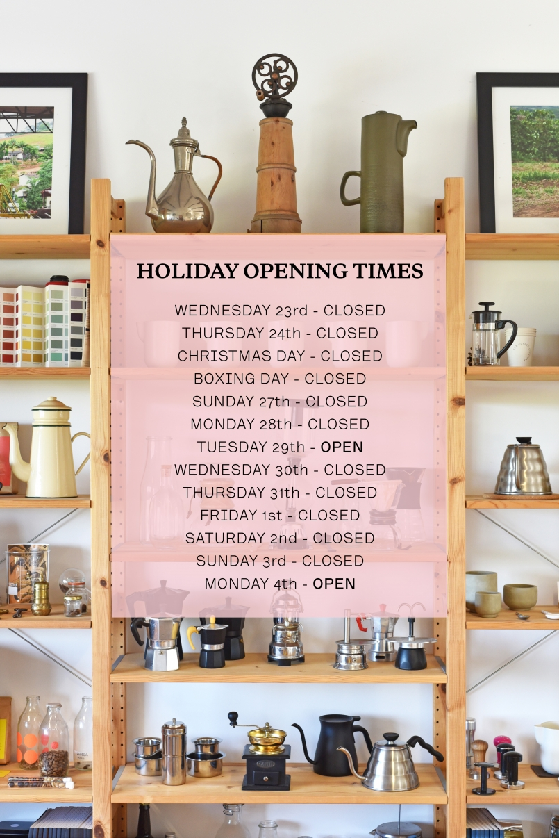 The Coffee Officina Christmas Holiday Times