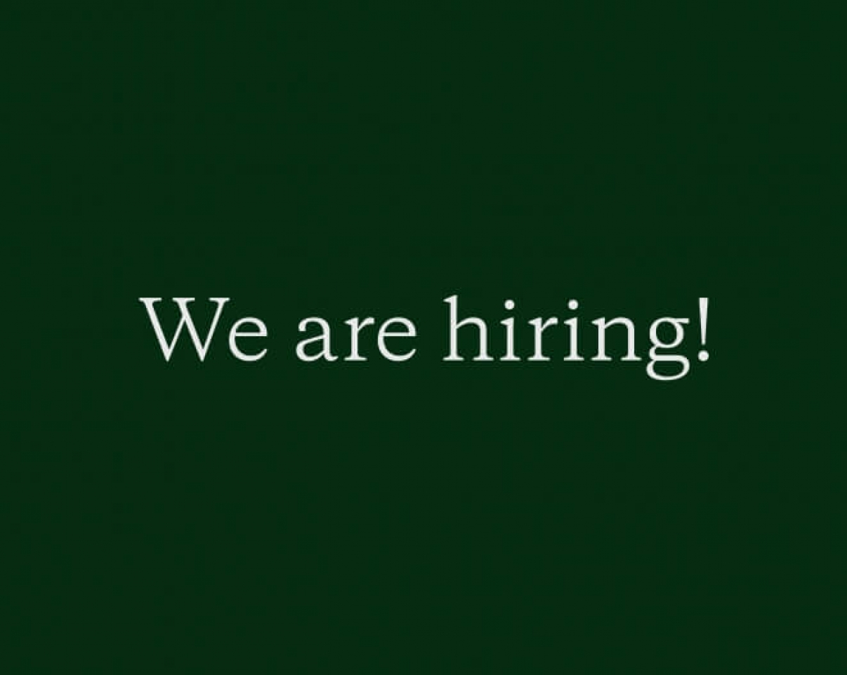We are hiring! poster